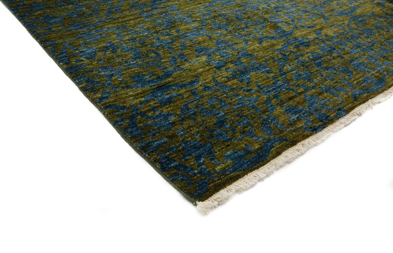 Green Suzani Area Rug For Sale At 1stdibs