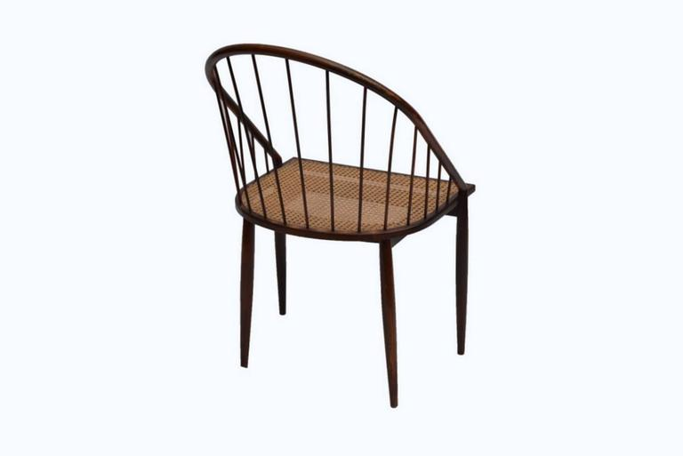 Mid-Century Modern Set of 12 Original Joaquim Tenreiro Chairs For Sale