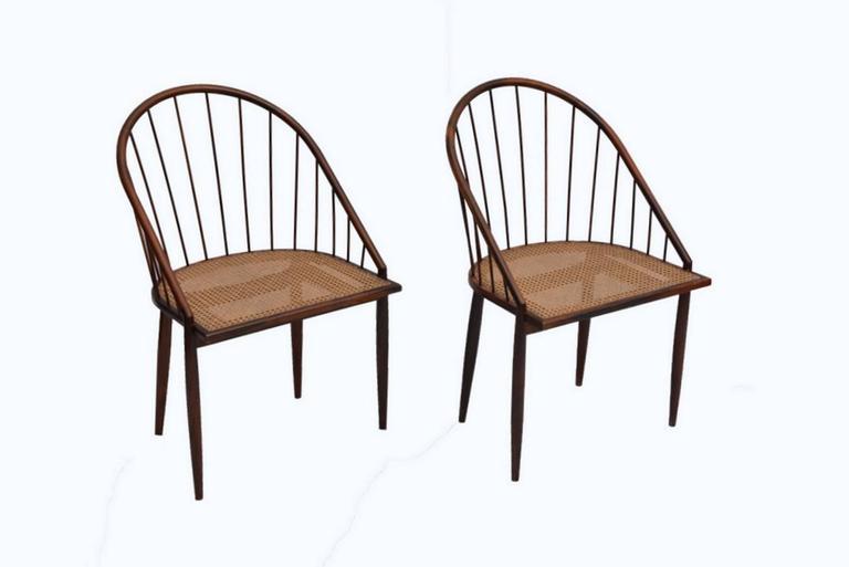 Brazilian Set of 12 Original Joaquim Tenreiro Chairs For Sale