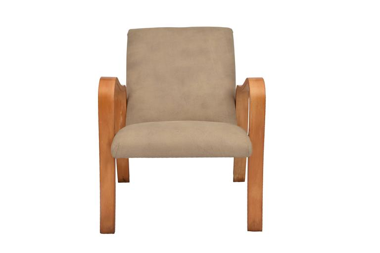 Armchair by Joaquim Tenreiro in Ivory Wood and Leather 3