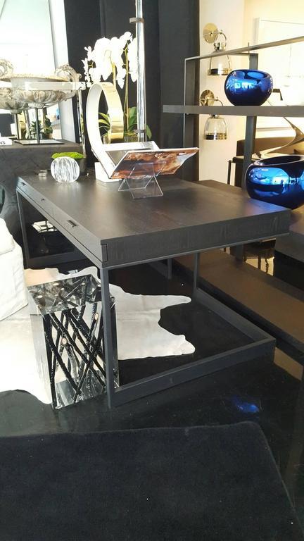 Three-Drawer Desk Ebonized Olive 2