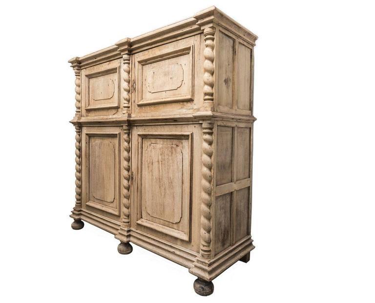 Gorgeous antique wood four-door cabinet.