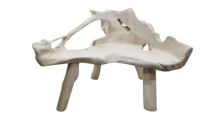 Beautiful bleached bench