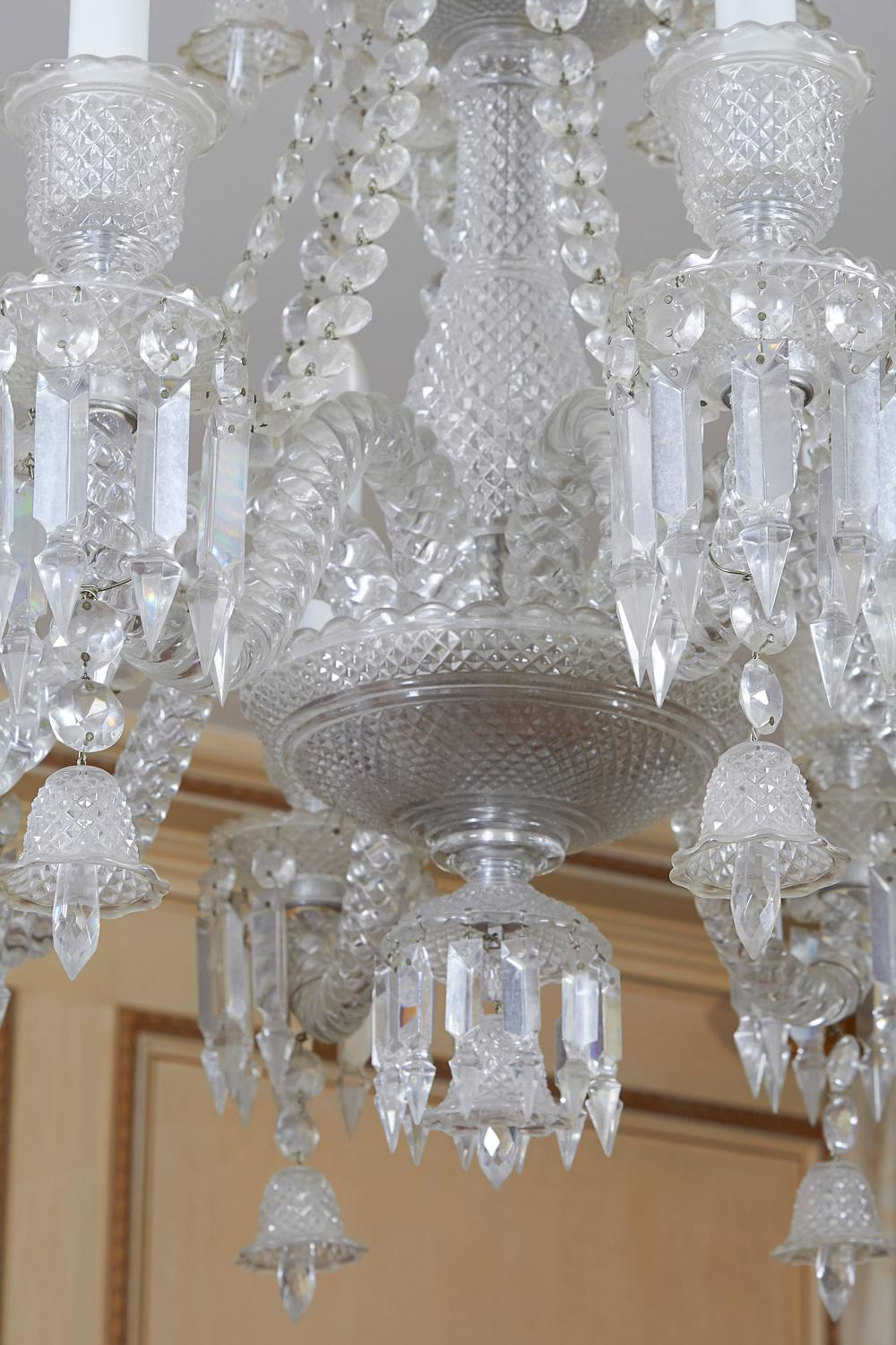 Baccarat Eight Arm Crystal Chandelier For Sale At 1stdibs