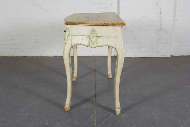 Pair of 19th Century Louis XV Style Painted Console Tables For Sale 2