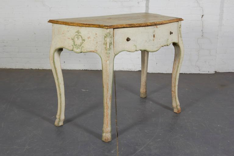 Italian Pair of 19th Century Louis XV Style Painted Console Tables For Sale