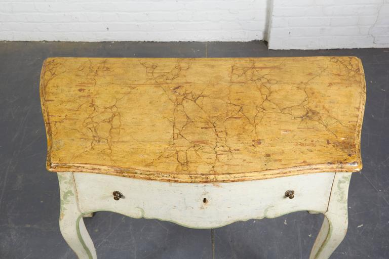 Pair of 19th Century Louis XV Style Painted Console Tables For Sale 1
