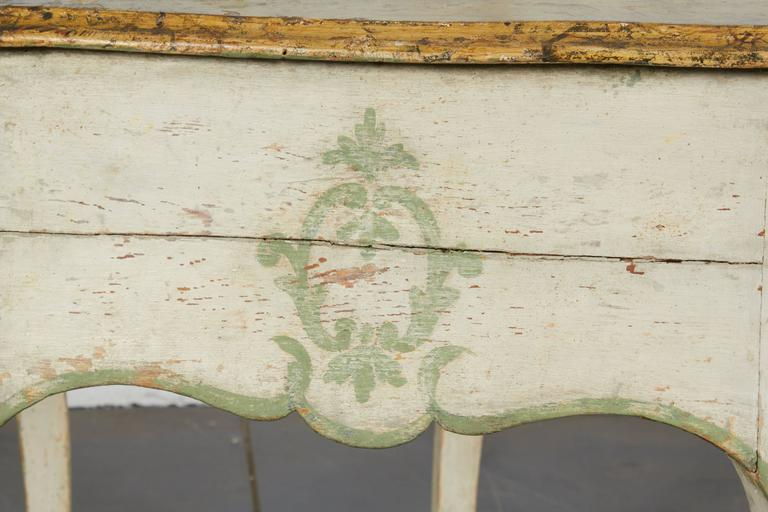 Pair of 19th Century Louis XV Style Painted Console Tables In Good Condition For Sale In New York, NY