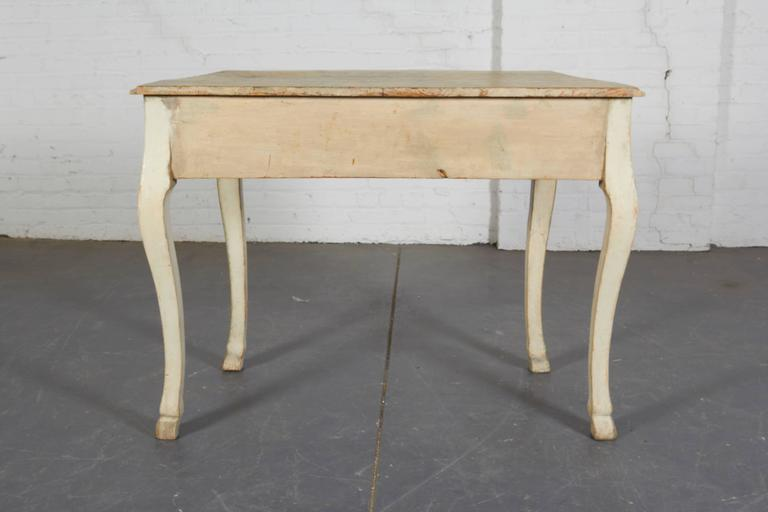 Pair of 19th Century Louis XV Style Painted Console Tables For Sale 5