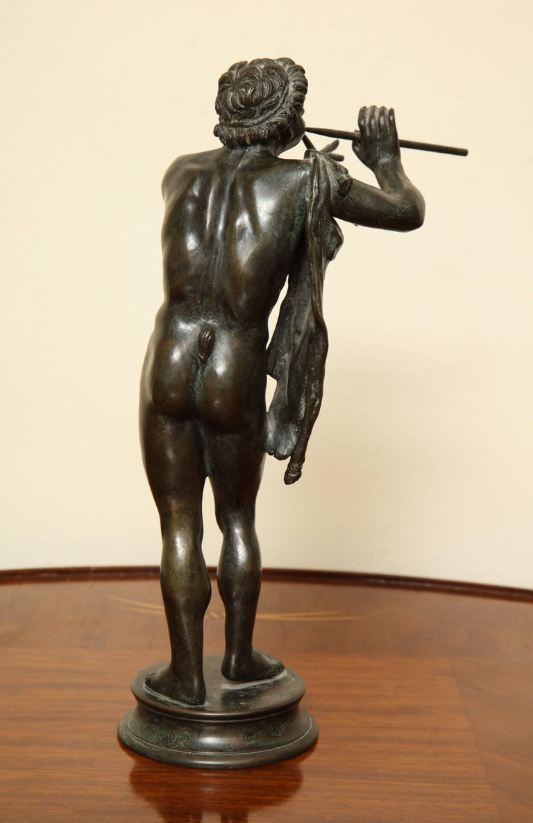 Midcentury Bronze of Pan Playing the Pipes For Sale 4