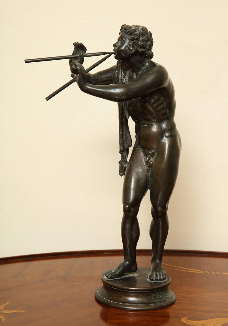 Mid-20th Century Midcentury Bronze of Pan Playing the Pipes For Sale