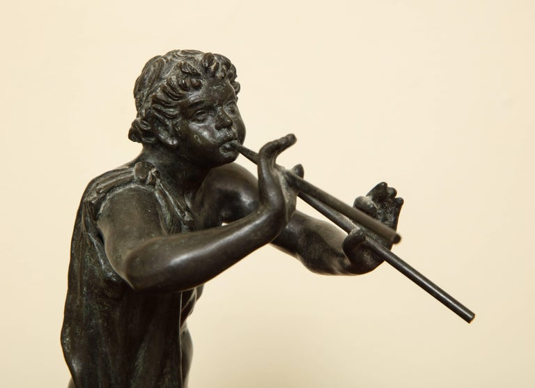 Midcentury Bronze of Pan Playing the Pipes For Sale 3