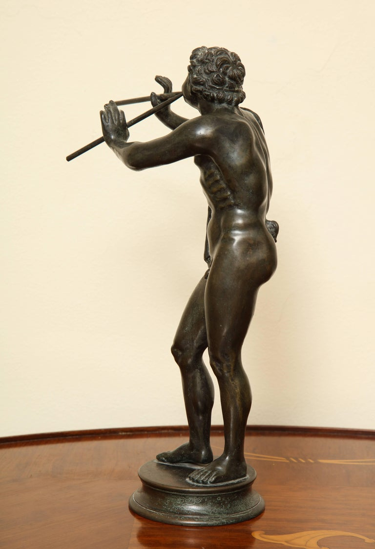 Midcentury Bronze of Pan Playing the Pipes In Excellent Condition For Sale In New York, NY