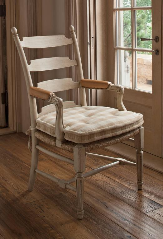 Set Of 12 David Easton Ladder Back Dining Chairs For Sale