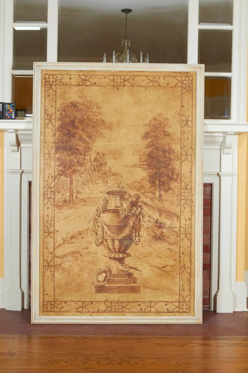20th Century Set of Six Sepia-Toned Decorative Panels after Rex Whistler For Sale
