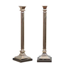Extra Tall Silver Candlesticks
