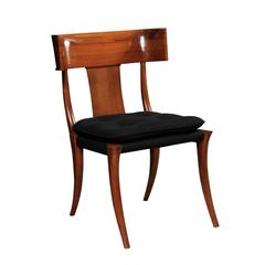 Modernist Mahogany Klismos Chair