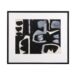 Jacques Nestle, Black and White, Original Abstract Art, Black Frame