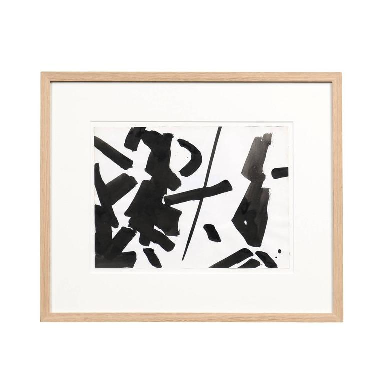 Jacques Nestle, Original Artwork in Walnut Frame