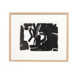 Jacques Nestle, Original Black and White Artwork in Walnut Frame