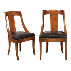 Faux Leather Side Chairs