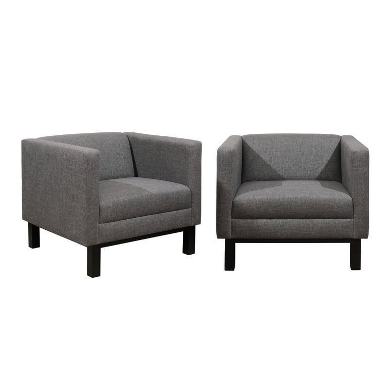 upholstered tuxedo armchairs at 1stdibs  danish modern furniture atlanta ga