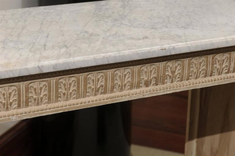 18th Century French Louis XVI Console with Marble Top For Sale