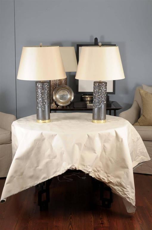 Art Deco Porcelain Glazed Lamp by Courtney Hammel For Sale