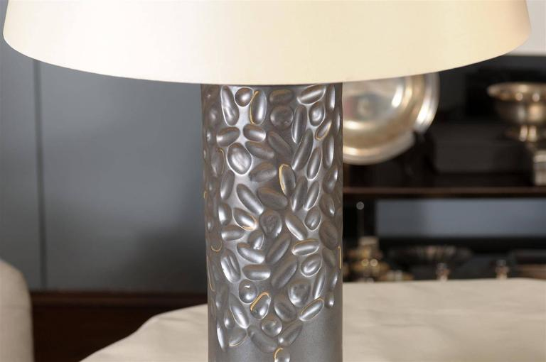 Porcelain Glazed Lamp by Courtney Hammel In Excellent Condition For Sale In Atlanta, GA