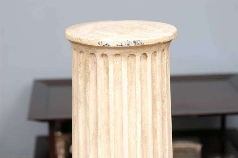 Faux marble fluted pedestals at 1stdibs for Fluted pedestal base