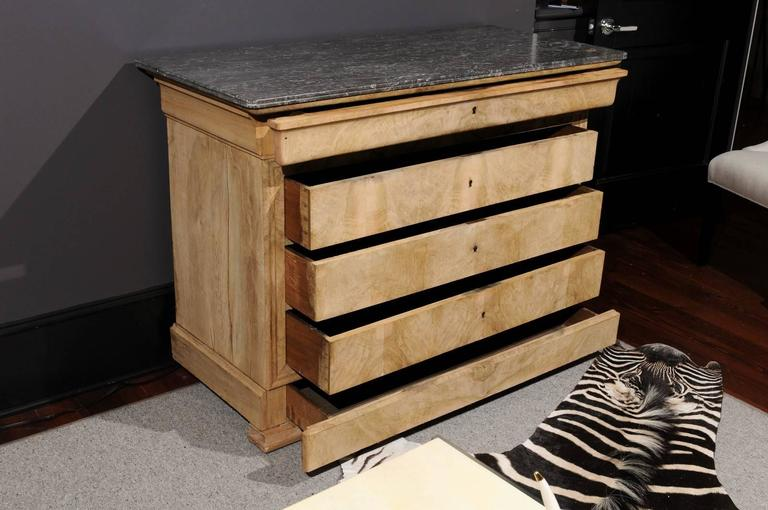 Antique Chest with Grey Marble Top For Sale 1