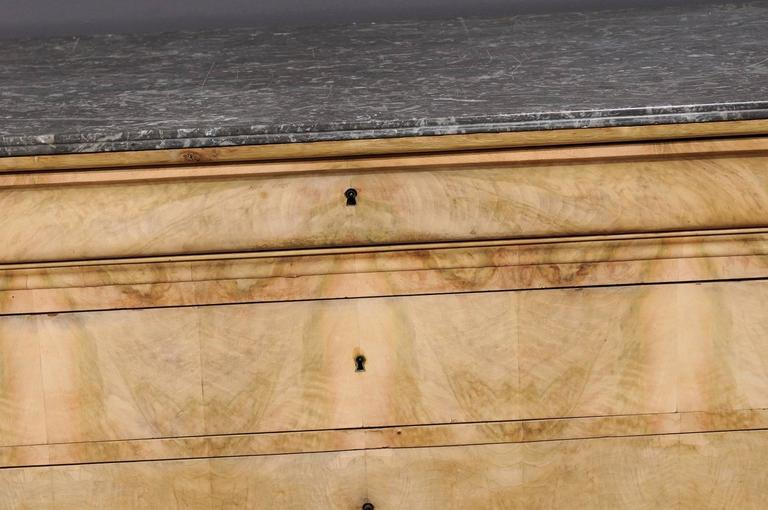 Antique Chest with Grey Marble Top For Sale 2