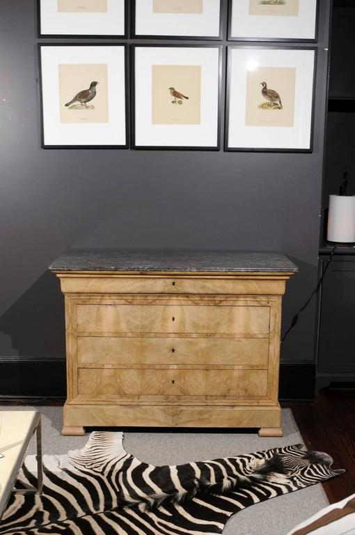 Antique Chest with Grey Marble Top For Sale 4