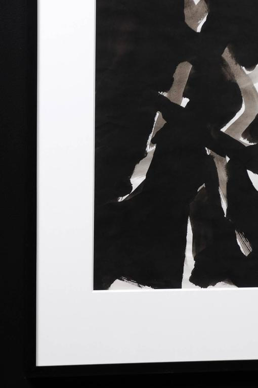 French Jacques Nestle, Black and White Abstract, Framed For Sale