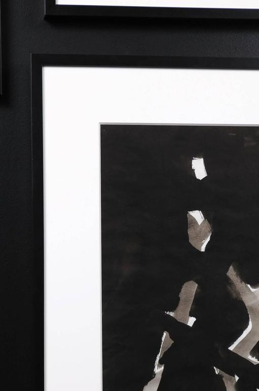 Jacques Nestle, Black and White Abstract, Framed In Excellent Condition For Sale In Atlanta, GA
