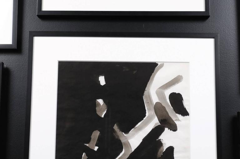 Jacques Nestle, Black and White Abstract, Framed For Sale 1