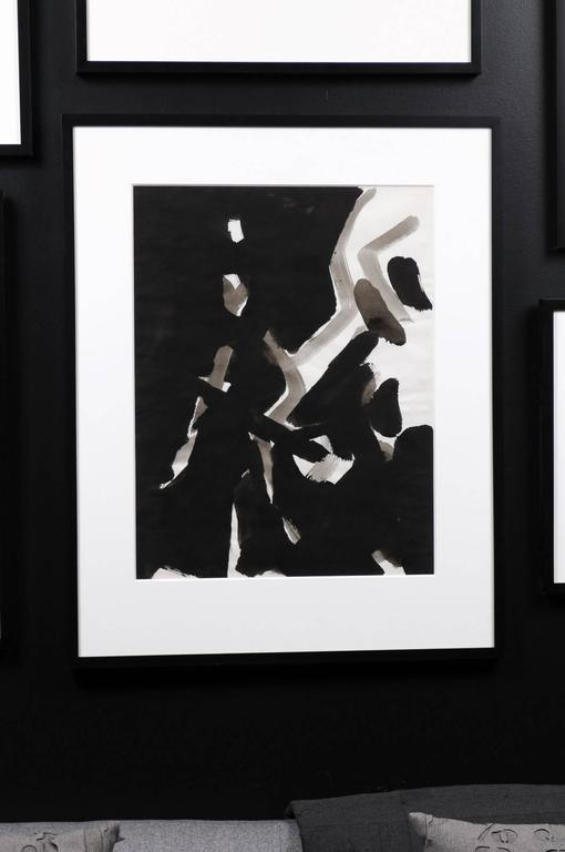 Jacques Nestle, Black and White Abstract, Framed For Sale 3