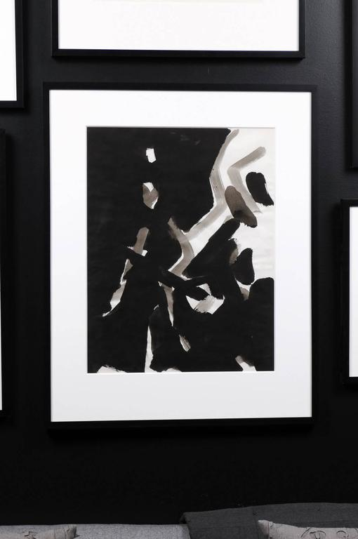 Jacques Nestle, Black and White Abstract, Framed For Sale 4