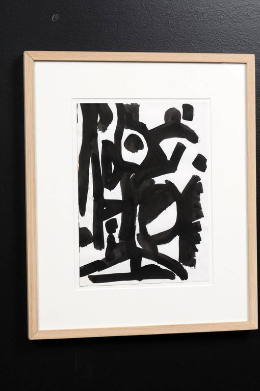 20th Century Jacques Nestle, Original Artwork in Black and White Frame For Sale