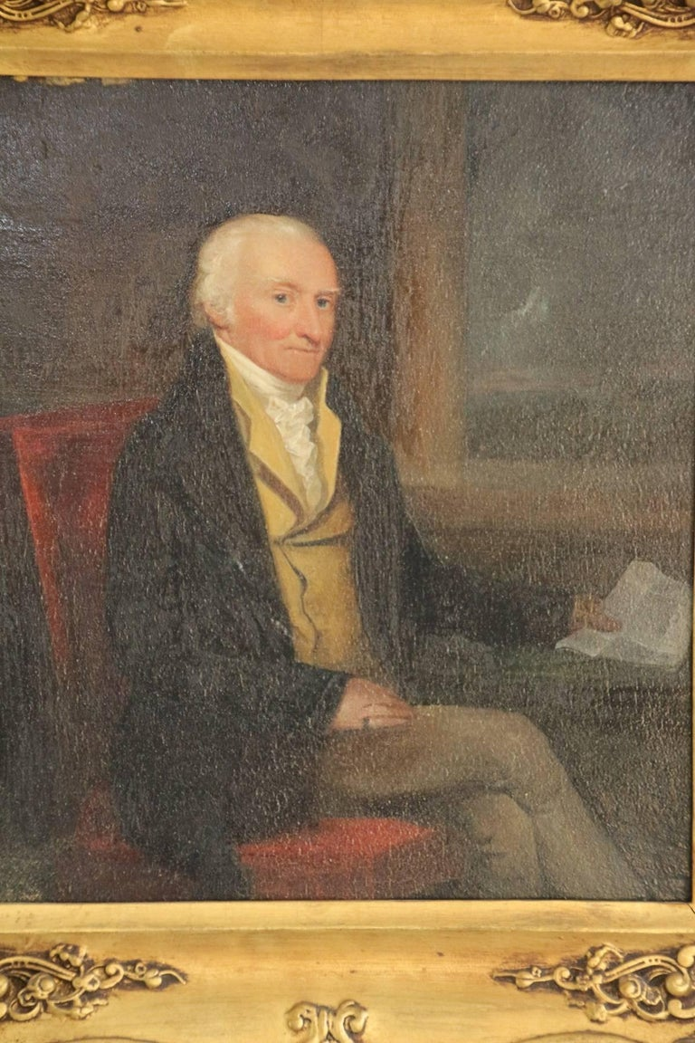 Late 18th Century Oil on Board Portrait of a Gentleman For Sale 3