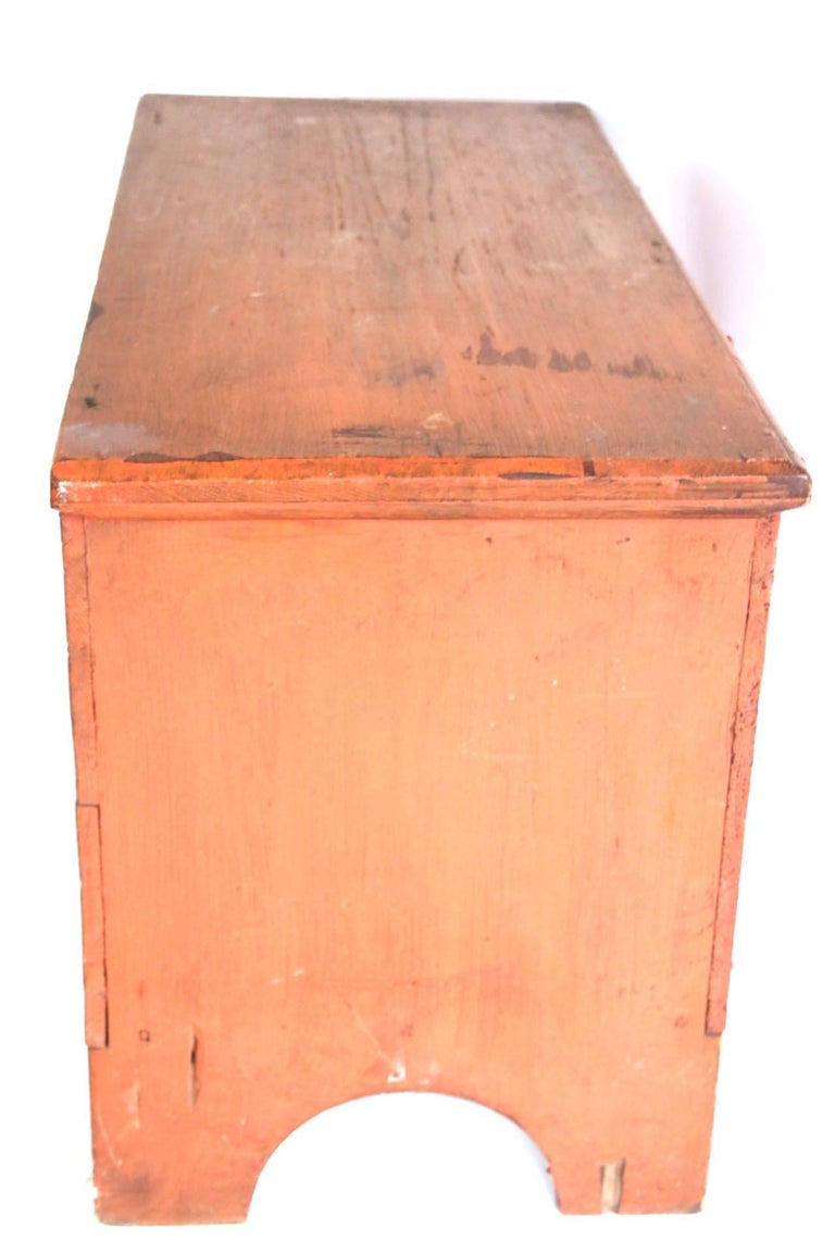 Early 19th Century Child's Painted Blanket Chest For Sale 5