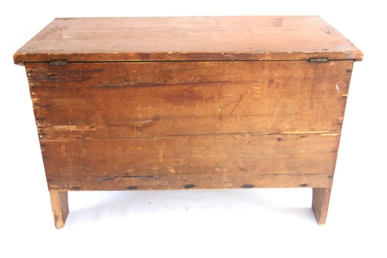 Early 19th Century Child's Painted Blanket Chest For Sale 3