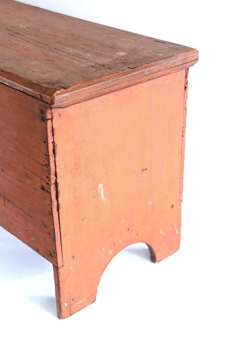 Early 19th Century Child's Painted Blanket Chest For Sale 1