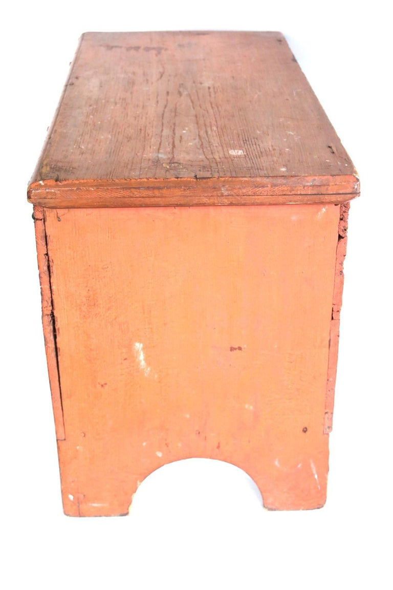 Early 19th Century Child's Painted Blanket Chest For Sale 2