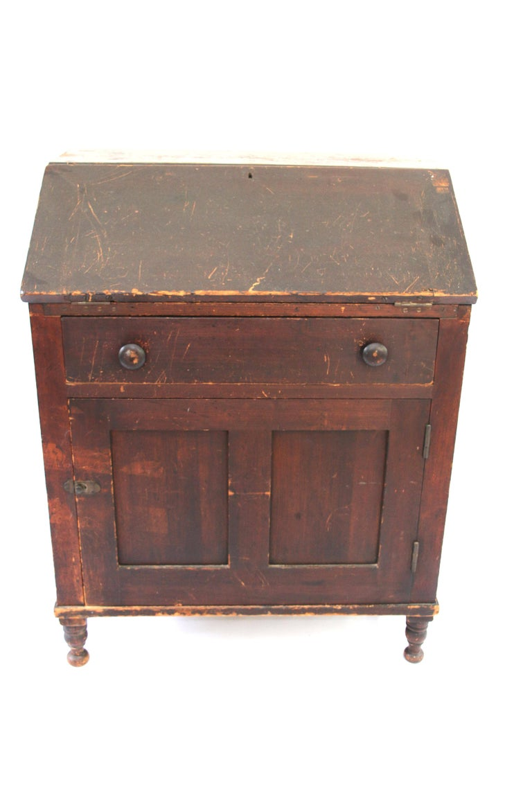 Early th century country fall front desk for sale at stdibs