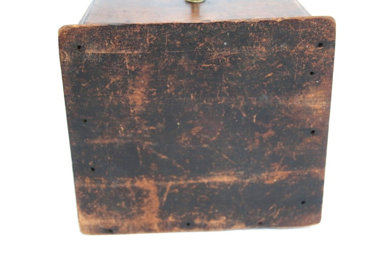 American Late 18th Century New England Maple Pipe Box For Sale