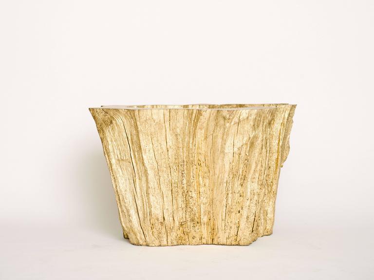 Gold Gilt Cypress Wood Dining Table Base At 1stdibs