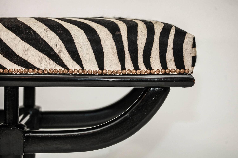 Mid Century Italian Zebra Bench For Sale At 1stdibs