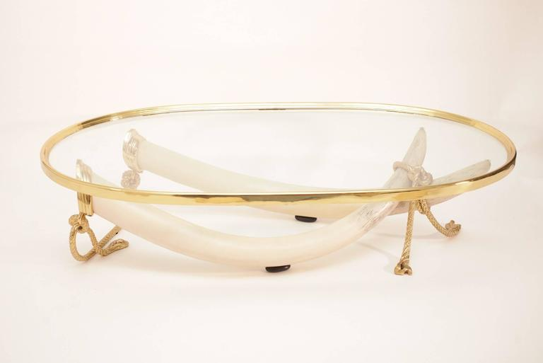italo valenti bronze faux elephant tusk table for sale at 1stdibs