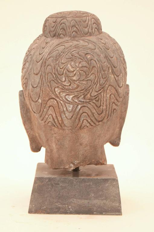 20th Century Stone Buddha Head For Sale 1